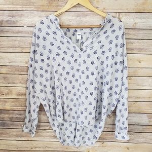 🌿Old Navy Long Sleeve Blouse Top Size Large🌿